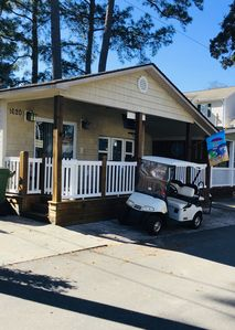 Photo for 2 BR/2BA Cottage With Golf Cart & Sleeper Sofa