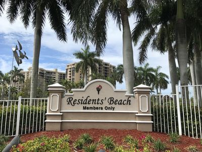 Photo for 2 Bedroom 2 Bath, Ground Floor Condo across the street from Residents' Beach