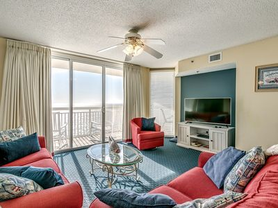 Photo for Crescent Shores 1711, 3 Bedroom Beachfront Condo, Hot Tub and Free Wi-Fi!
