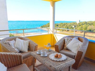Photo for One bedroom apartment with terrace and sea view Kožino, Zadar (A-18128-d)