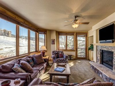 Photo for Best Steamboat Mountain Views -3BR Ski-In/Out at Bottom of Resort- w Pool & HTs