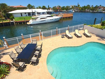 Photo for BTSVV'S CASA SEABATICAL-WATERFRONT, HEATED POOL, 5 MINUTE DRIVE TO BEACH
