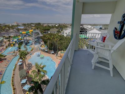 Photo for Fabulous 5 Star condo, dbl balcony  -  4 water park passes inc! 3 min from Beach