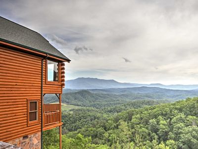 Photo for Heavenly High 1BR Sevierville Cabin w/ Hot Tub!