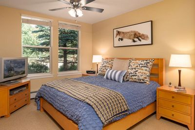 Updated King Master bedroom with new bedding & decor