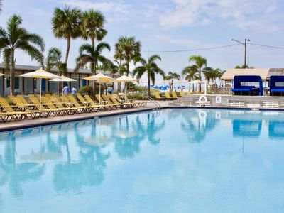 Photo for BEACH VACAY STARTS HERE! TWO COMFY UNITS FOR 8 GUESTS, POOL, TIKI BAR