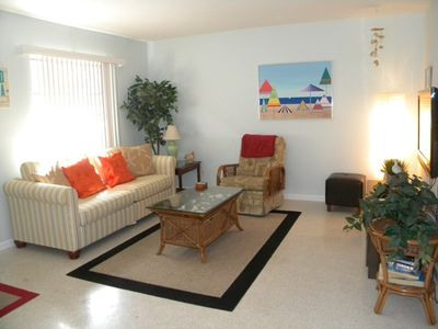 Photo for Sanibel Shores #2A Cute 2 bedroom duplex, sleeps 6, shared pool, bikes, short ride to the beach