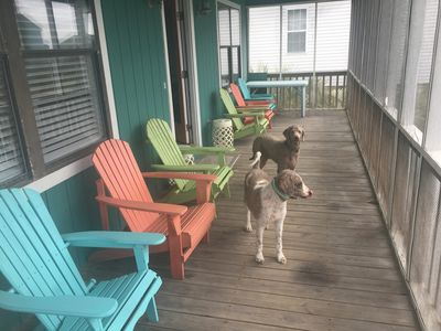 Photo for Oak Island Beach House One and 1/2 Blocks From The Beach.