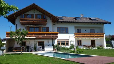 Photo for Free Alpenblick, quiet, natural pool, high. equipped, wood stove, nature, ****
