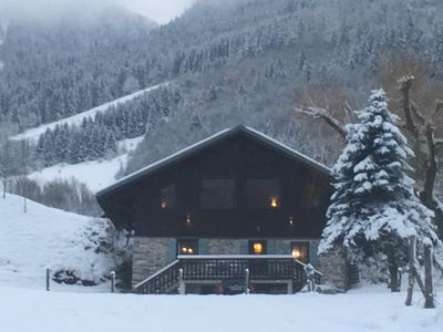 Photo for Alpine Chalet 1819 a beautiful Savoyard farmhouse, luxury chalet for 6–9 guests.
