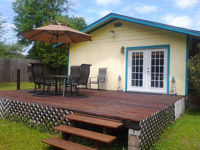 Back Deck with relaxing furniture to enjoy your morning coffee!