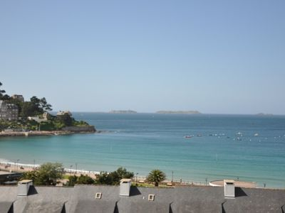 Photo for Studio with WIFI and SUPERB SEA VIEW on the 1st floor of Château de Trestraou