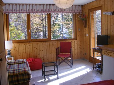 Photo for 2 rooms. 2 stars, 2 steps from the center of Saint Gervais and very quiet