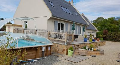 Photo for zen house by the sea bay of mont st michel with private pool
