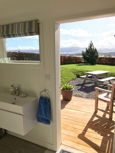 Looking out onto the sun terrace from the new en suite shower room