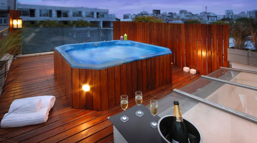 Huge private rooftop terrace with jacuzzi homeaway villa crespo - Jacuzzi exterieur occasion ...