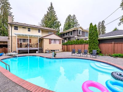 Photo for South Granville Luxurious 6BR Home w/ Pool! CENTRAL to YVR, DT, UBC & LANGARA