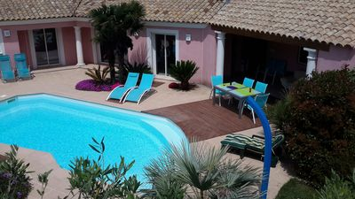 Photo for MODERN VILLA WITH HEATED POOL, FREJUS CENTRE, 3 KM OF BEACHES