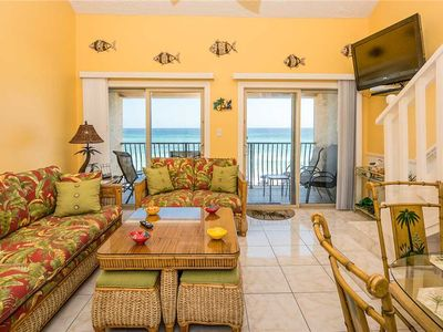 Photo for 43- Best views of the BEACH from the balcony of this beautiful condo! Coral Reef Club