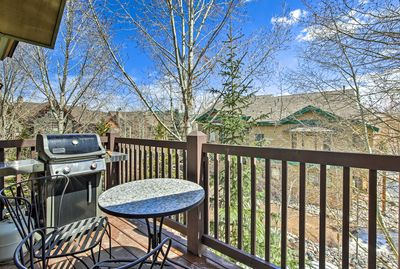 Take in the mountain views while cooking out on the gas grill.