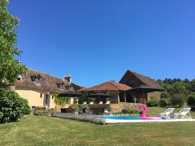 Photo for Le Mas & Le Mazet: 5-star house and cottage, private pool with stunning views