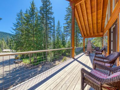 Photo for NEW LISTING! Mt. Hood home w/ private hot tub & great Government Camp location!