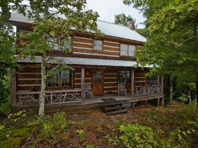 Photo for Mont Vue - Spectacular View - Laurel Valley, private, 3 bdrm, sleeps up to 7, outdoor fireplace