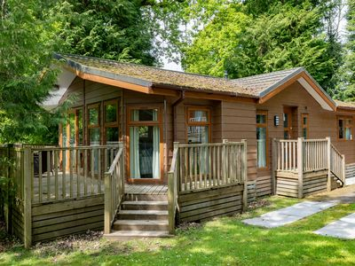 Photo for Comfortable lodge close to lake and popular town within walking distance