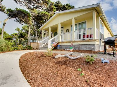 Photo for Modern, dog-friendly home w/ covered porch & gas grill - walk to the beach!