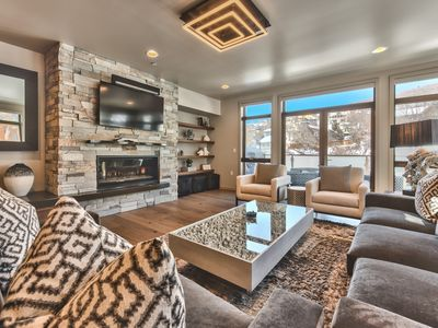 Photo for New Luxury Condo on Main Street with 3 Master Bedrooms and Hot Tub