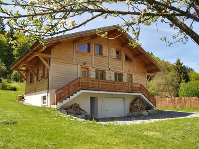 Photo for Chalet Grand Massif luxury building: sauna, near Morillon-Samoens