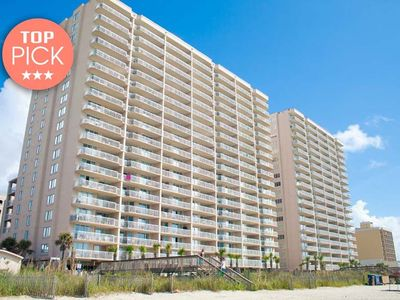 Photo for Crescent Shores 109, 2 Bedroom Beachfront Condo, Hot Tub and Free Wi-Fi!