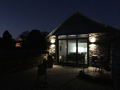 The Shed at night