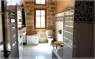 Bathroom with Spanish tiling