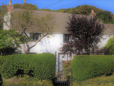 Photo for A Thatched Cottage in St Agnes very near the beach, garden, parking for 2 cars.