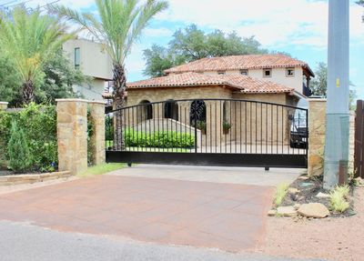 Front of Home with privacy gate