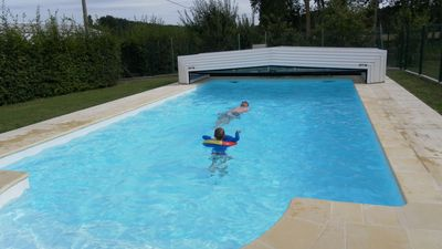 Photo for 3 star cottage with pool in the heart of the Loire chateaux