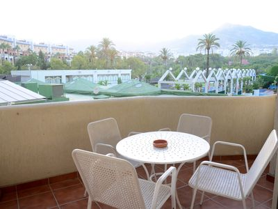 Photo for Beautiful apartment in first line beach in the center of Benalmadena