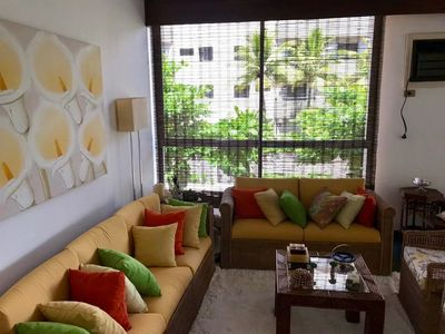 Photo for Incredible and spacious family apartment in Enseada one block from the beach