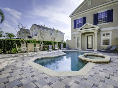 Photo for Luxury Villa 6BR Private Courtyard Pool/Spa, Reunion On Palmer Golf Course Game Room 8 Miles to Disney
