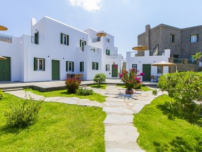 Photo for Ammos Apt 2 - duplex apartment in a villa-like setting steps from the beach