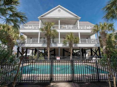 Photo for Spacious Cherry Grove beach house with pool, just steps to the beach!