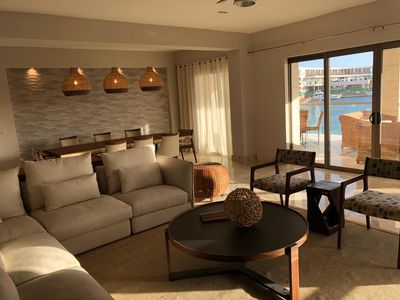 Photo for Luxurious condo at La Amada Residences, marina views & short walk to beach!