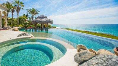 Photo for Private Beachfront Villa with Heated Infinity Pool, Gourmet Kitchen, Theater Room, & Resort Access