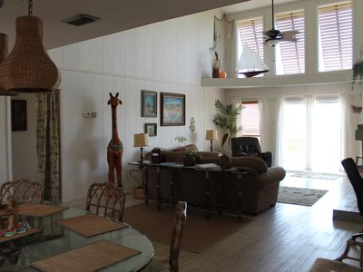 Welcome to La Vista!  Open living and dining area.