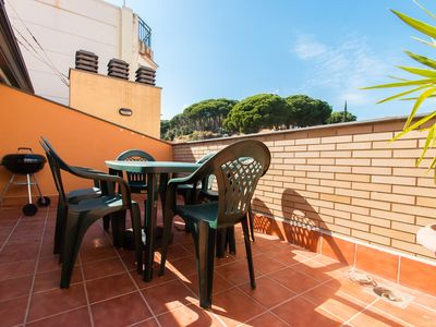 Photo for Duplex With Terrace On The Beach Of Canet De Mar