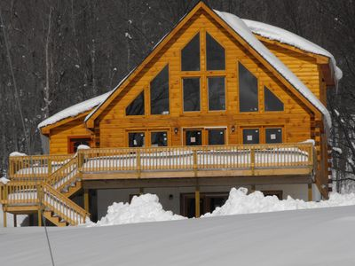 Photo for Hunter/Windham luxurious log home million dollar views