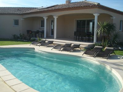 Photo for Superb new villa with swimming pool, 10 minutes from beaches, and commercial areas.