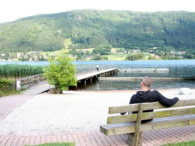 Photo for Apartment FeWo, priv. Beach directly on the Ossiachersee / Bodendorf u. Ski area Gerlitzen