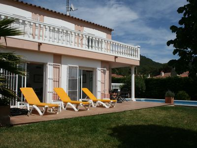 Photo for ESTARTIT VILLA DISTRICT QUIET PRIVATE SWIMMING POOL GARDEN WIFI LINEN HOUSEHOLD INCLUDED